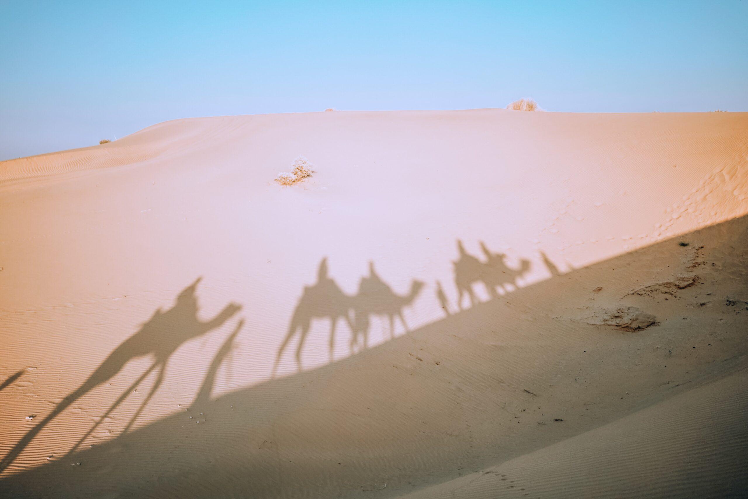 poços no deserto